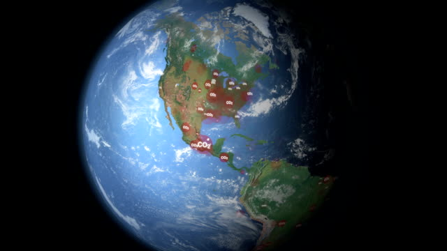 Carbon Dioxide visualization North America video