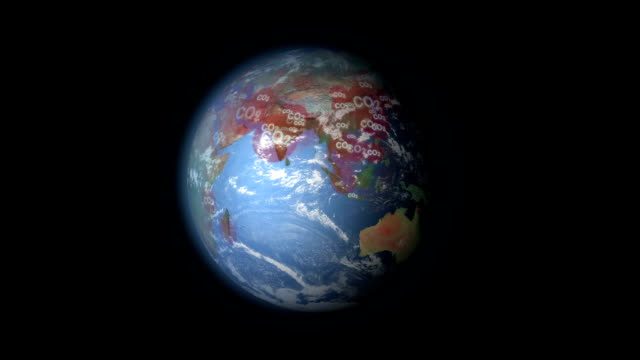 Carbon Dioxide visualization world video