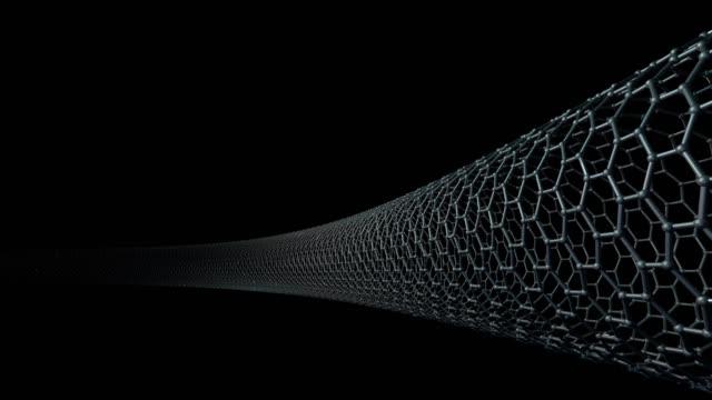 kohlenstoff-nanoröhrenstruktur, sechseckige 3d - netzgewebe stock-videos und b-roll-filmmaterial