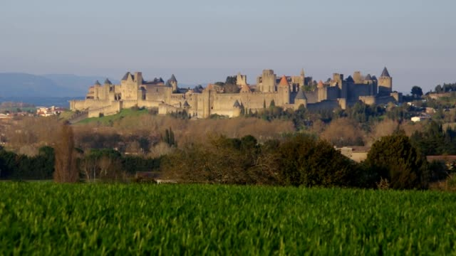 Carcassonne, old medieval town in southern France video