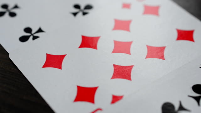 Card play Distribution of cards electron micrograph stock videos & royalty-free footage
