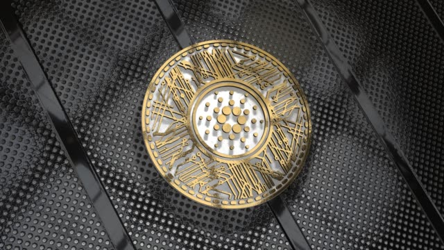 Cardano Coin (ADA) Blockchain Cryptocurrency 3D Render