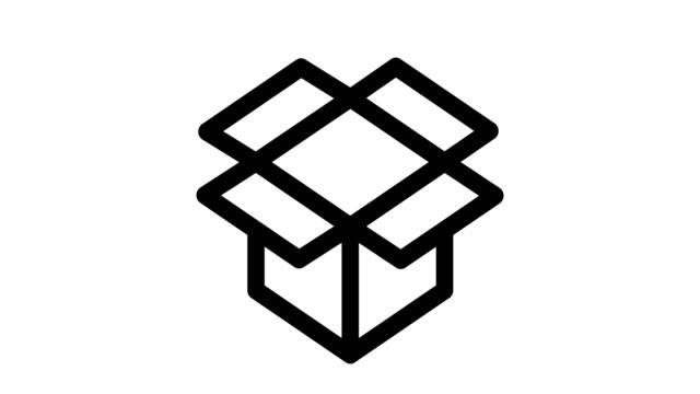 pudełko tekturowe - technika ilustracji filmów i materiałów b-roll