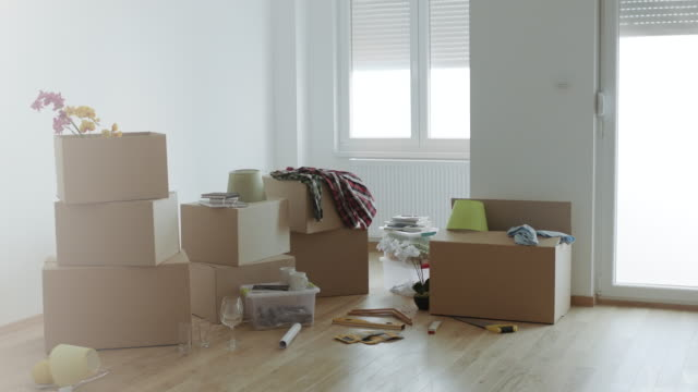 Cardboard boxes for moving into a new home video