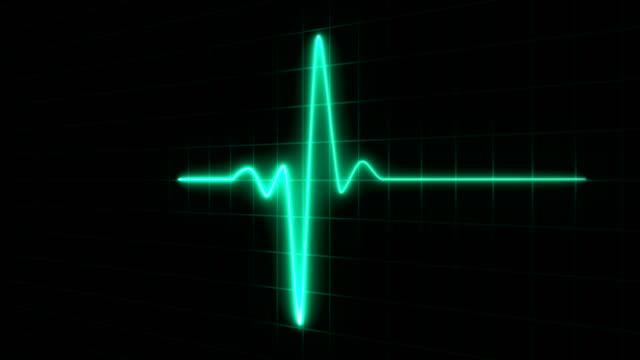 stockvideo's en b-roll-footage met cardiogram cardiograaf oscilloscoop scherm groen, ekg health shape medische achtergronden loopable. - hartmonitor