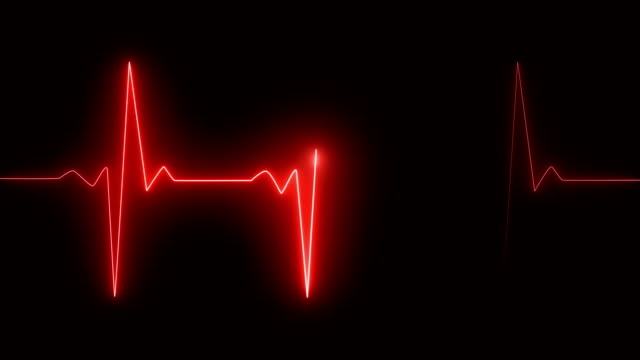 Cardiogram cardiograph oscilloscope screen red Cardiogram cardiograph oscilloscope screen red pulse trace stock videos & royalty-free footage