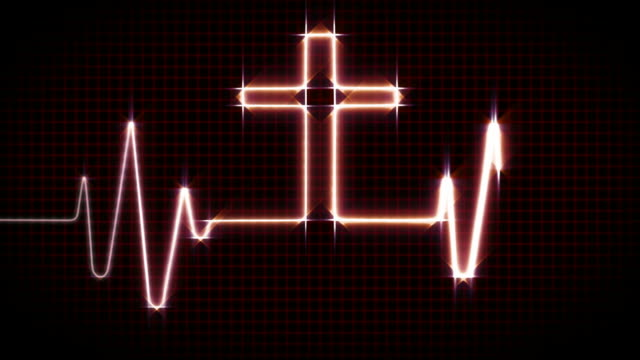 Cardiogram with Cross - Red video