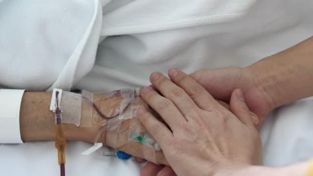 pflege und ermutigung - hände halten stock-videos und b-roll-filmmaterial