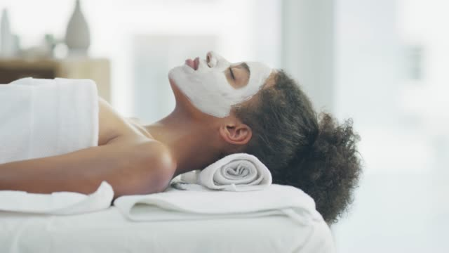 care for your skin and it will glow - face mask stock videos & royalty-free footage