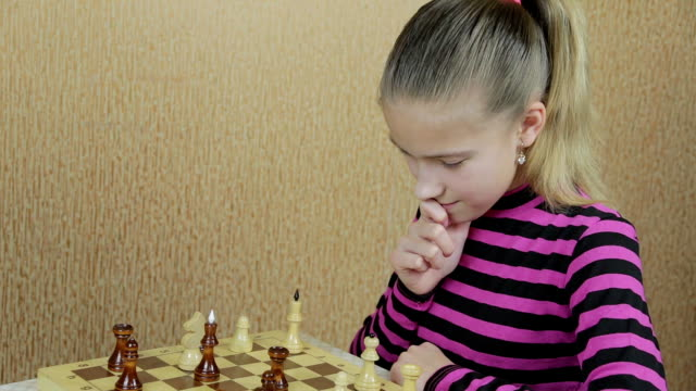 Carefully thought-out move in chess game video
