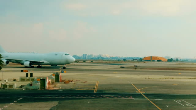 Cargo Airplane taxiing at the airport video