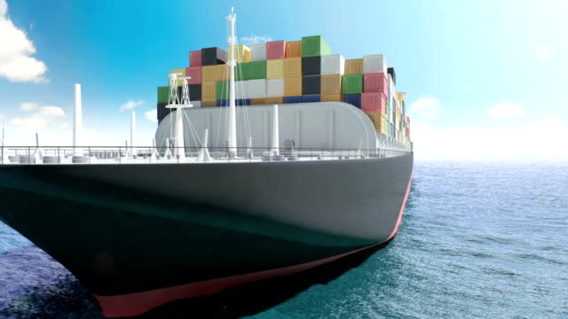 container ship in a meer - autotransporter stock-videos und b-roll-filmmaterial