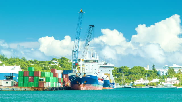 Cargo Shipping in the Tropical Islands video