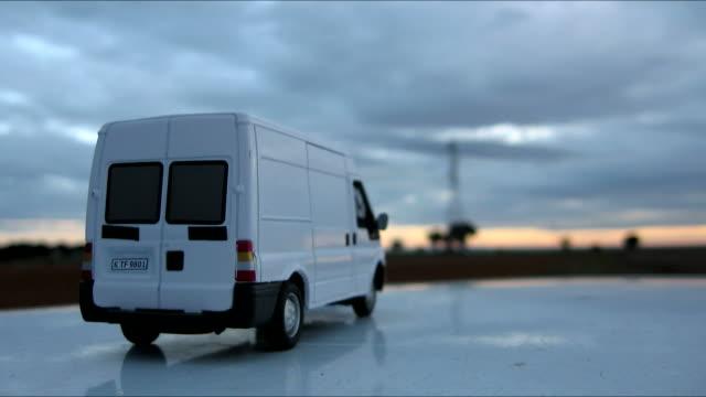 cargo van - furgone video stock e b–roll