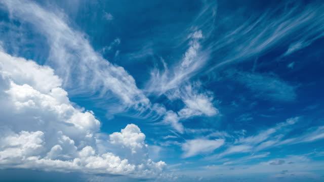 vídeos de stock, filmes e b-roll de lapso de tempo das nuvens do cararibe - cúmulo