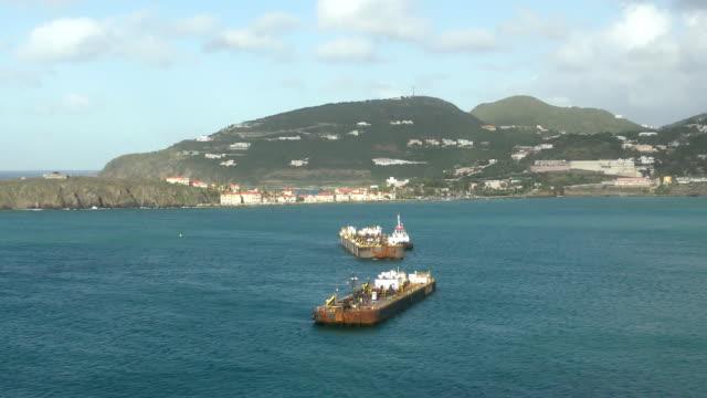 caribbean island scenery - saint martin caraibi video stock e b–roll