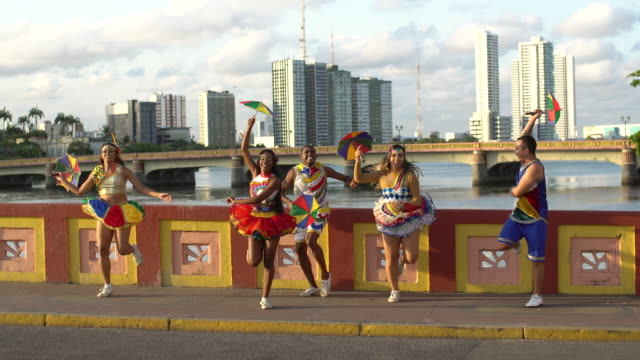 Carnival on the Recife Bridge over the Capibaribe River
