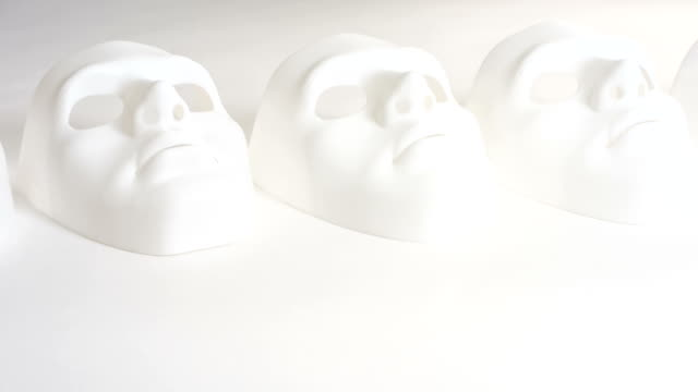 Carnival white mask video