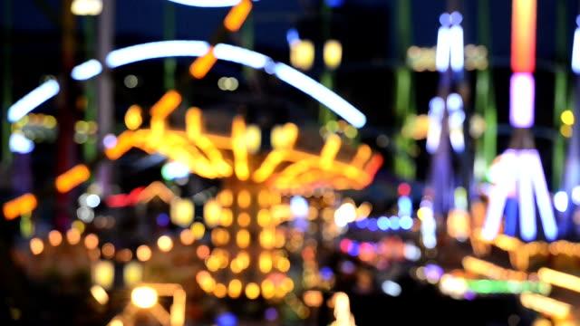 Carousel , Amusement Park Ride, Defocused , HD, Video video