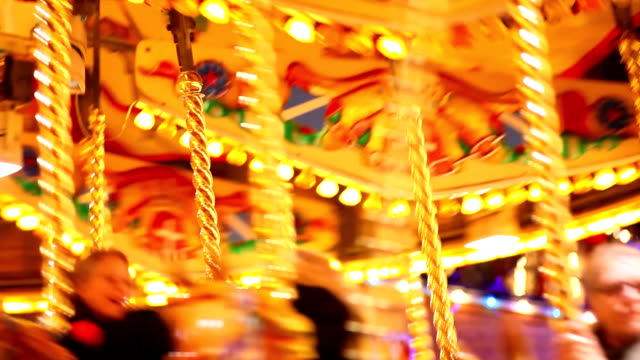 Carousel and Amusement park with kids video