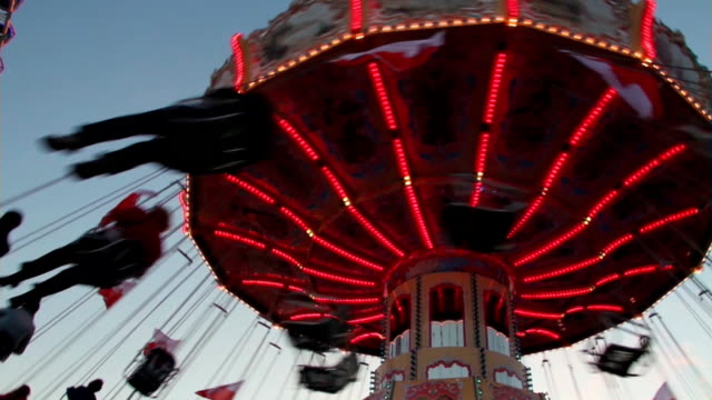 carousel in motion in the evening video