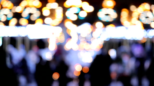 Carousel lights bokeh video