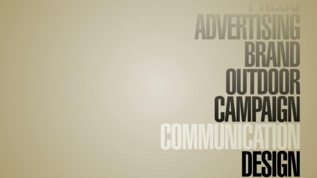 vidéos et rushes de manège de mots-clés publicitaires haute définition - marketing