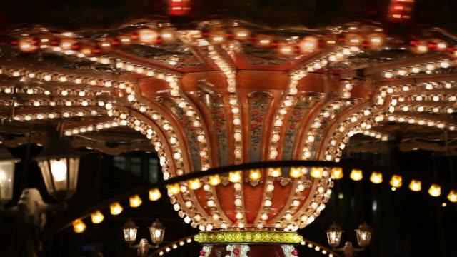 carousel - circus stok videoları ve detay görüntü çekimi
