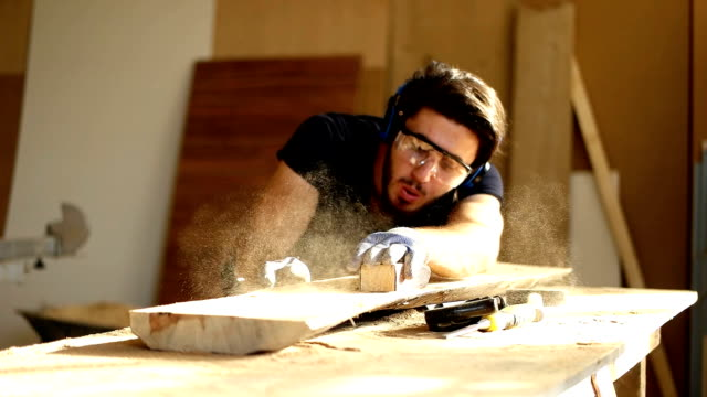 Carpenter at work Carpenter at work carpenter stock videos & royalty-free footage