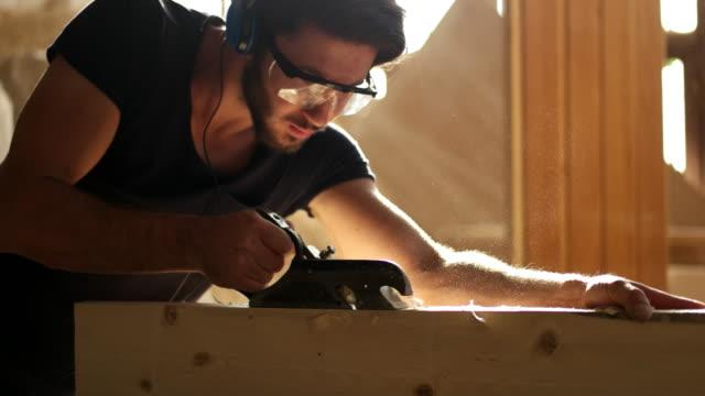 Carpintero de trabajo - vídeo