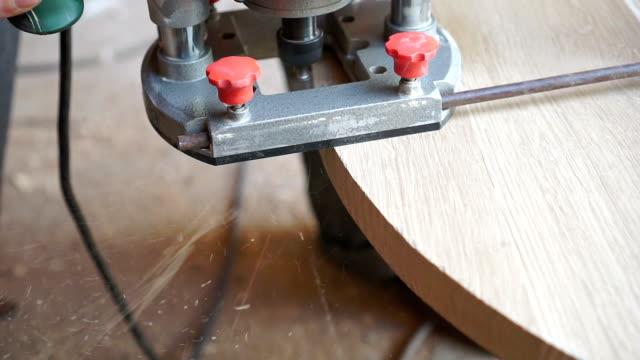 Carpenter is making furniture video