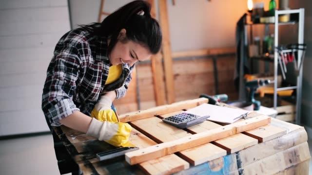 Carpenter makes furniture