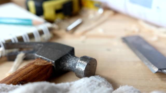 Carpenter Tools Carpenter Tools workbench stock videos & royalty-free footage