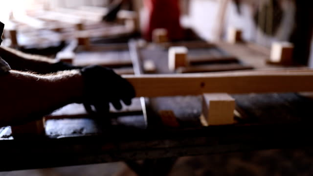 Carpenters in workshop Carpenters in workshop workbench stock videos & royalty-free footage