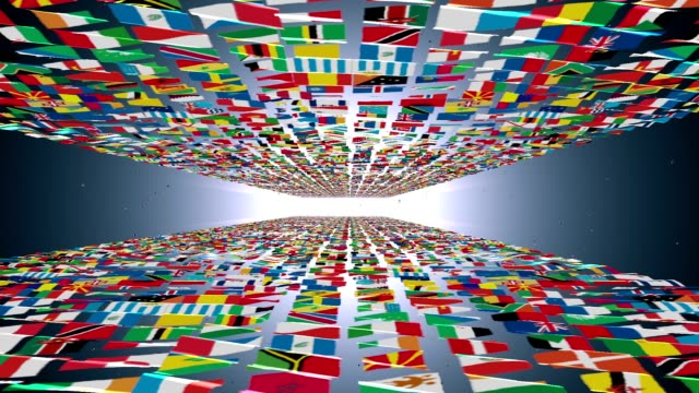 Carpet of World Flags, light bloom, alpha Carpet of World Flags, light bloom, alpha russian culture stock videos & royalty-free footage