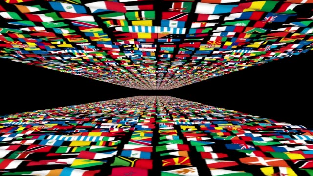 Carpet of World Flags, loop, alpha Carpet of World Flags, loop, alpha russian culture stock videos & royalty-free footage