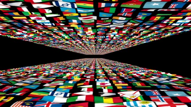 Carpet of World Flags, loop Carpet of World Flags, loop russian culture stock videos & royalty-free footage