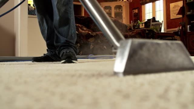 tappeto pulizia vapore - moquette video stock e b–roll