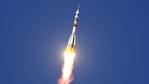 carrier rocket soyuz-fg startet - russland stock-videos und b-roll-filmmaterial