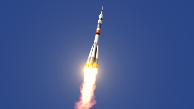carrier rocket soyuz-fg startet - rakete stock-videos und b-roll-filmmaterial