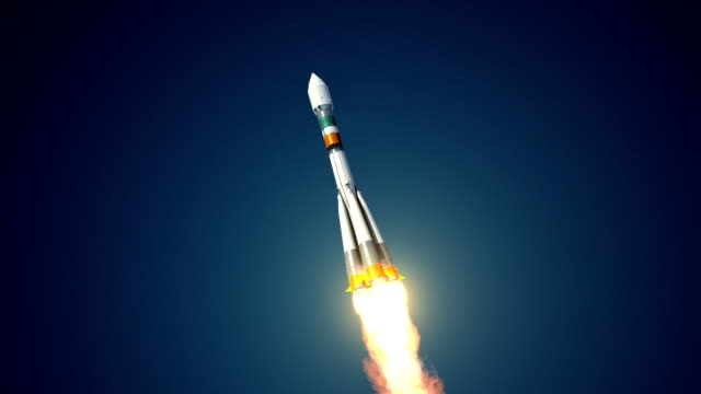 Carrier Rocket Takes Off video