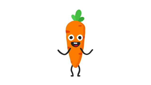 Carrot funny character dances and smiles. Loop animation. Alpha channel. Carrot funny character dances and smiles. Loop animation. Alpha channel. Motion graphics. Animation video. carrot stock videos & royalty-free footage