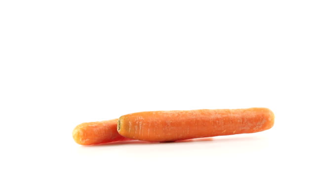Carrots cut in slices video