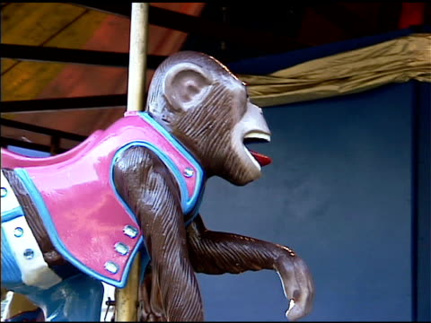 carrousel circus monkey rundgang - kürzer als 10 sekunden stock-videos und b-roll-filmmaterial