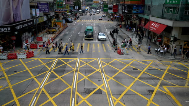 Cars and People on Street in Hongkong, Time Lapse video