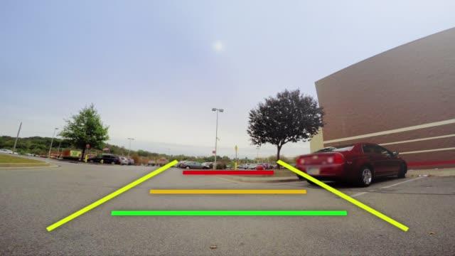 auto backup-kamera video-feed - hinter stock-videos und b-roll-filmmaterial