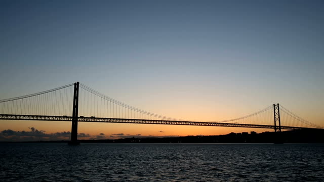 Cars on Bridge Ponte 25 de Abri video