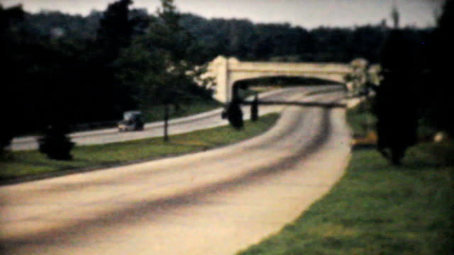 Cars On Highway in New York -1940 Vintage 8mm video