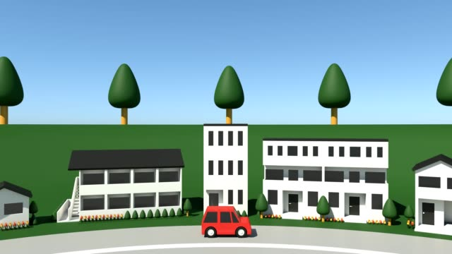 Cars on the residential area video