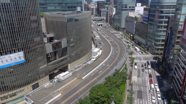 Cars On The Street In Ginza Tokyo Japan 4k Stock Video - Download